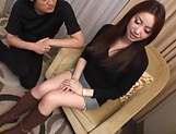 Amazing Japanese beauty hard fucked and jizzed on pussy picture 9