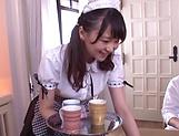 Kamiki Sayaka gets her inviting cunt creamed.