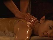 Luscious milf enjoys a wild massage session