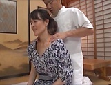 Hibiki Ririko, arousing mature Asian gets massage and a banging picture 15