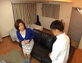 Japanese wife enjoys riding a stiff rod picture 2