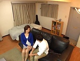 Japanese wife enjoys riding a stiff rod picture 4