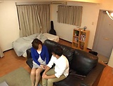 Japanese wife enjoys riding a stiff rod picture 8
