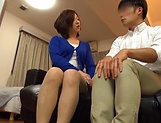 Japanese wife enjoys riding a stiff rod picture 9