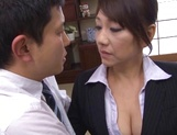 Sexy ikumi gets a tit fuck and creampie