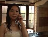 Mature Japanese AV Model  gets her hairy pussy creamed
