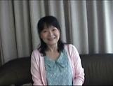 Big titted mature Japanese AV Model gets banged hard on the sofa