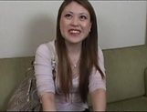Amateur Japanese AV model gets her hairy milf pussy creamed