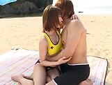 Sex on the beach along young Ayumi Shunka picture 13
