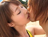 Sex on the beach along young Ayumi Shunka picture 15