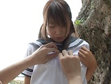 Schoolgirl Rui Hasegawa enjoys sex with the teacher in outdoor