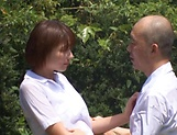 Hotaka Yuka and friend in wild outdoor fucking picture 12