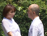 Hotaka Yuka and friend in wild outdoor fucking picture 14
