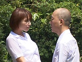 Hotaka Yuka and friend in wild outdoor fucking picture 15