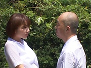 Hotaka Yuka and friend in wild outdoor fucking
