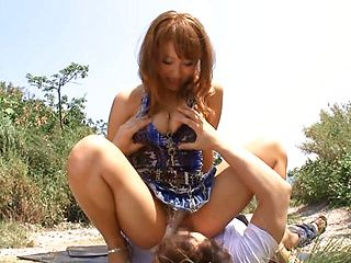Outdoor lover, Mao Kurata is a crazy Asian chick in a short skirt