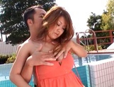 Hot busty Japanese sweetheart gets toyed and banged outdoors picture 12
