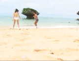 Sex on the beach with superb Asian babe Nana Nanami picture 1