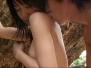 Sex on the beach with superb Asian babe Nana Nanami