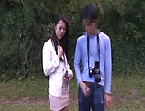 Japanese AV model gets banged outdoors by horny photographer picture 12