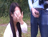 Japanese AV model gets banged outdoors by horny photographer picture 14