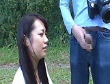 Japanese AV model gets banged outdoors by horny photographer picture 15