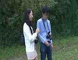 Japanese AV model gets banged outdoors by horny photographer