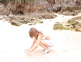 Ayu Sakurai gets rammed wildly outdoors picture 1