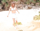 Ayu Sakurai gets rammed wildly outdoors picture 2