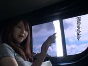 Playful AV babe Akiho Yoshizawa fingered in a public place