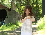 Sexy milf Hayama Hitomi ravaged outdoors picture 6