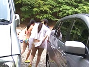 Naughty porn in nature with busty Kanno Sayuki