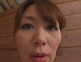 Hot Japanese milf Chisato Shoda teases with her nude forms picture 13