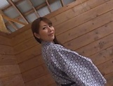 Hot Japanese milf Chisato Shoda teases with her nude forms