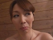 Chisato Shoda, naughty mature babe digs masturbation