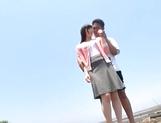 Stunning Asian babe Ki Hanyuu sucks and fucks on the beach picture 11