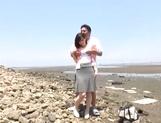 Stunning Asian babe Ki Hanyuu sucks and fucks on the beach picture 15