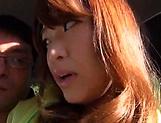 Adventurous  Hitomi Inoue bonked outdoor