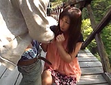 Hot Miyabe Suzuka pleases her man outdoor picture 11