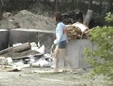 Outdoor sex adventure for busty Asian teen Hiraru Koto picture 11