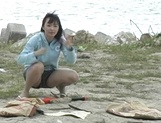 Outdoor sex adventure for busty Asian teen Hiraru Koto picture 12
