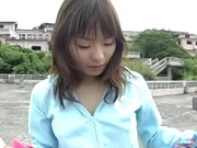 Outdoor sex adventure for busty Asian teen Hiraru Koto