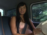 Busty Asian babe Nana Ogura in amazing car sex picture 1