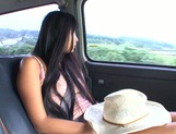 Busty Asian babe Nana Ogura in amazing car sex picture 7