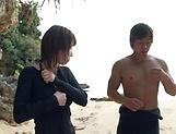 Sexy Ayami Hunka loves to have sex outdoors