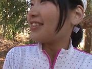 Horny Katakura Moe has her pussy nailed deep