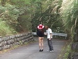 Suzue Mona amazing Japanese model likes getting banged outdoors