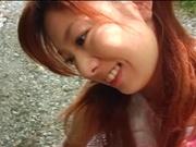Sexy outdoor masturbation with Asian milf Aki Katase