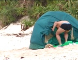 Beautiful milf Aki Katase gets fucked on the beach