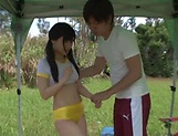 Outdoor fuck with sexy Asian teen Kitano Nozomi picture 10